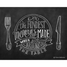 Chalkboard Art - Kitchen Chalkboard Art - Dining Room Art - Kitchen Print - Hand Lettering ($24) found on Polyvore