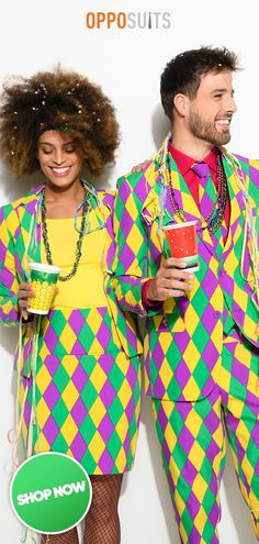 Mardi Gras couple outfit ideas, Carnival outfits with the suits from OppoSuits. Mardi Gras couple outfit ideas, Carnival outfits with the suits from OppoSuits. Mardi Gras Party, Mardi Gras Halloween Costume, Halloween Clown, Diy Carnival, Mardi Gras Carnival, Carnival Costumes, Party Outfits For Women, Costumes For Women, Adult Costumes