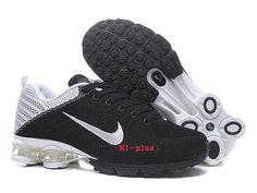 new styles c3f56 33281 Nouveau Nike Air Shox nz Pas Cher Coussin De Sport Basketball Homme Panda  noir blanc-