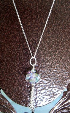 Clearance STERLING Silver Swarovski Crystal by DawnofCreationArt, $18.00