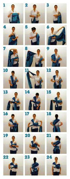 Basic step woven wrap