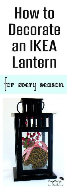How to decorate an IKEA lantern