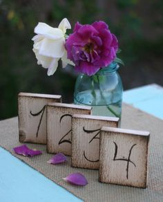 Rustic Table Numbers Barn Wedding Decor item by braggingbags