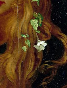 "sollertias: "" Ofelia by Ernest Hébert, c. 1910 (details) """
