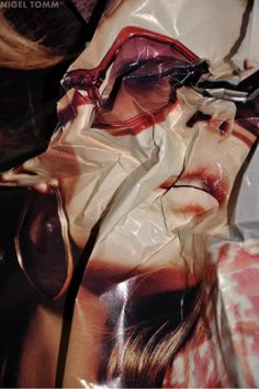 Nigel Tomm. Scrunched up photography. Sunch interesting distortion. #Inspiration