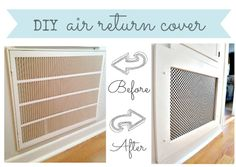 how to make a decorative air return vent cover, wall decor
