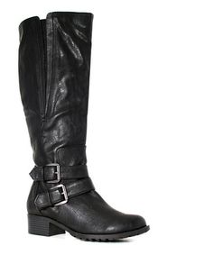 Look what I found on #zulily! Black Extra-Wide-Shaft Boston Boot #zulilyfinds
