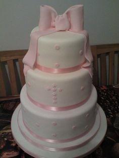 girls christening cake  Cake by shnukum
