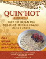 QUIN'HOT -Best Gluten-Free hot cereals with Chia, Qionoa, Hemp. Made in Ontario, Canada.