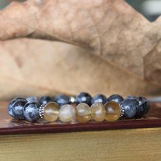 Faceted labradorite, fluorite and sterling silver bracelet