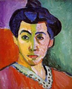 """""""Madame Matisse"""" or """"The Green Strip"""" 1905 Oil on canvas. Fauvism. Statens Museum for Kunst, Copenhagen, Denmark."""