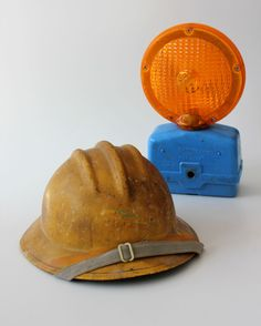 Vintage Warning Light Flashing Barricade Construction Industrial. $19.99, via Etsy.