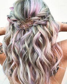Metallic pastel by Jazzy Thomas - ~HAIR~ - Hair Color List Of Hair Colors, Coachella Hair, Pulp Riot Hair Color, Afro Hair Care, Hair Shows, Mermaid Hair, Crazy Hair, Cool Hair Color, Hair And Nails