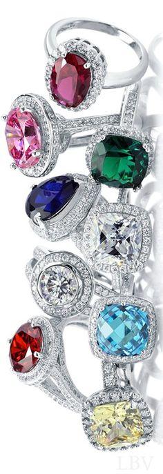 ☆╰☆╮ R I N G S╰☆╮☆ ****Halo Rings | LBV ♥✤****