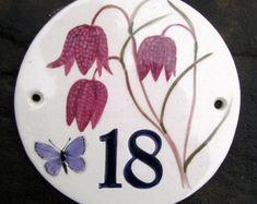 Ceramic house number | Etsy