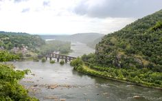 The Shenandoah River | Harpers Ferry - A magnificent view of the Shenandoah River and the Harpers Ferry town from atop a nearby hill.