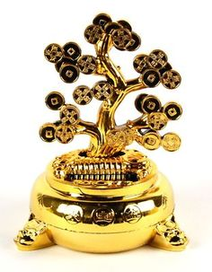 Solar Prosperity Tree, with branches of fortune coins to wave in good luck and fortune!  #goodcharma #goodcharmastyle