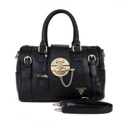 e378bc531455 Cheap Prada Vintage Grained Leather Satchel Handbag Black Pin It PRADA13687  Marc Jacobs Wallet, Marc