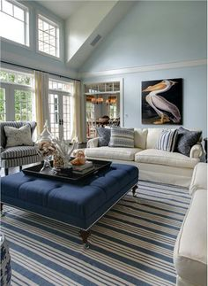 This room is Benjamin Moore Ice Blue  2052-70    Garrison Hullinger