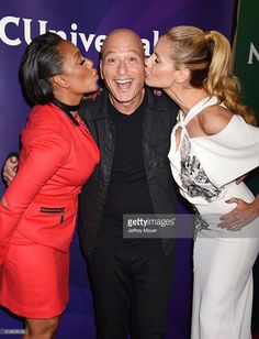 TV personalities Mel B, Howie Mandel and Heidi Klum arrive at the 2016 Summer TCA Tour - NBCUniversal Press Tour at the Four Seasons Hotel - Westlake Village on April 1, 2016 in Westlake Village, California.