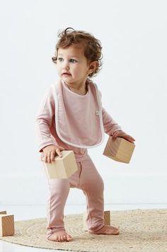 7006163d614 Baby Bib in Rose - Boody Organic Bamboo Eco Wear Free Baby Stuff
