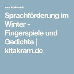 Sprachförderung im Winter - Fingerspiele und Gedichte | kitakram.de
