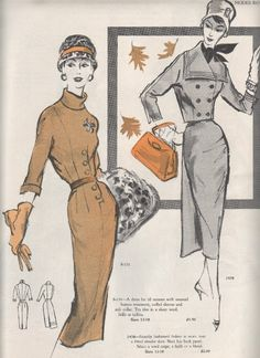 Good Morning and welcome to a brand new week! I recently acquired piles and piles of vintage Modes Royale Catalogues. So what better to d. Barbie Patterns, Dress Sewing Patterns, Vintage Sewing Patterns, Retro Outfits, Vintage Outfits, Vintage Fashion, Old Dresses, Vintage Dresses, Vintage Clothing