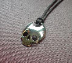 Silver Skull Spoon Pendant by JackDoeJewellery on Etsy