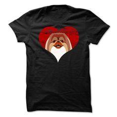 Pekingese LOVE T-Shirt Hoodie Sweatshirts uoi. Check price ==► http://graphictshirts.xyz/?p=51248