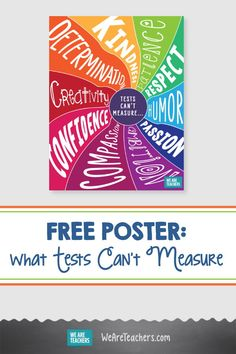We Need to Help Kids See They Are So Much More Than Their Test Results. Kids, teachers, and schools are so much more than their test results. Get a free poster to remind students of what tests can't measure. Classroom Decor Themes, Classroom Quotes, Classroom Organisation, Classroom Setting, Art Classroom, Future Classroom, Free Poster Printables, Door Decs, Middle School Teachers