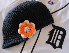 Hey, I found this really awesome Etsy listing at https://www.etsy.com/listing/69630320/detroit-tigers-baseball-game-day-beanie