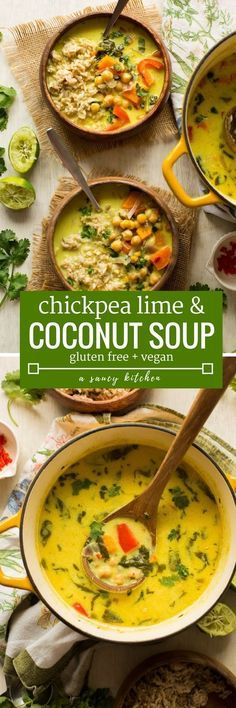 30 minute Chickpea Lime & Coconut Soup - warm, satisfying & easy to make! | Gluten Free + Vegan + Grain Free