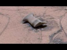 Curiosity image shows crashed or abandoned artificial object on the surface of Mars - YouTube