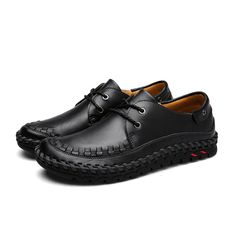 Lace Up Leather Outdoor Oxfords Soft Sole Business Formal Shoes