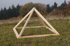 Folding Wooden Pyramid by Powerofwood on Etsy