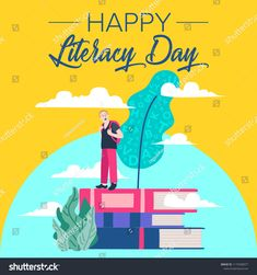 Find International Literacy Day Poster Education Concept stock images in HD and millions of other royalty-free stock photos, illustrations and vectors in the Shutterstock collection. Thousands of new, high-quality pictures added every day. Royalty Free Images, Royalty Free Stock Photos, Education Day, International Literacy Day, Image Vector, Law Of Attraction, Concept, Sculpture, Drawings