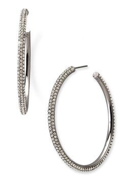 Nadri Large Pavé Crystal Hoop Earrings available at #Nordstrom