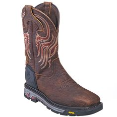 Justin Boots Men's WK2111 Square Steel Toe Waterproof Commander X5 Pull-On Work Boots