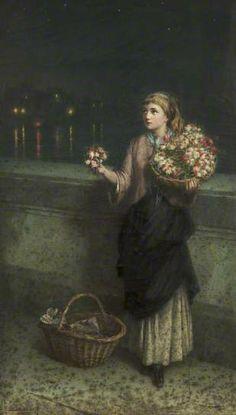 A Flower Seller on London Bridge
