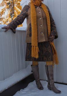 Vaateviidakko Handmade Skirts, Diy Clothes, Sewing Projects, Coats, Sweaters, Jackets, Fashion, Diy Clothing, Down Jackets