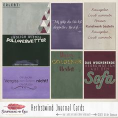 Herbstwind: Deutschsprachige Journaling Karten Shed Plans) Journal Stickers, Journal Cards, Junk Journal, Planner Stickers, Bullet Journal, Scrapbook Letters, Project Life Cards, Shed Plans, Smash Book