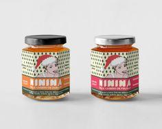 Diseño de etiquetas para mermeladas Ninina, por http://soytandem.com.ar