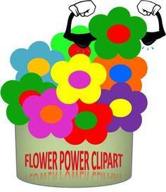 FREE-Flower Power Clip Art