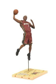 """McFarlane Toys NBA Series 19 Chris Bosh Action Figure by McFarlane Toys. $10.99. Figure features an all-new head sculpt and new team uniform. Figures stands approximately 6"""" tall. Power forward for the miami heat. Figure comes with a basketball. Jersey color may vary from image as rare Collector Level figure features black jersey. From the Manufacturer                McFarlane Toys is proud to present their newest line of NBA Stars. NBA 19 features 'faces in new p..."""