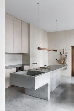 Kitchen Interior Design – Kitchen is a place for us to make favorite food. Therefore the kitchen must make us . Interior Design Minimalist, Interior Modern, Modern Kitchen Design, Interior Design Kitchen, Modern Design, Monochrome Interior, Grey Interior Design, Interior Ideas, Exterior Design