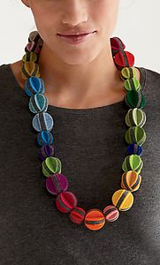 """""""Melon Ball Necklace""""  Felted Necklace  Created by Danielle Gori-Montanelli"""
