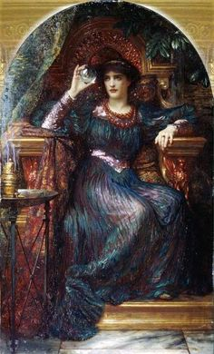 'The Magic Crystal' by Sir Frank Dicksee 1894.