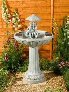 Umbrella Water Fountain - Stone Effect from 149.99 in Fixtures and Ornaments | Mail Shop
