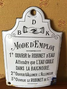 plaque emaillee ancienne lot de 4 toilettes incendie salle de bains oude emaille borden. Black Bedroom Furniture Sets. Home Design Ideas