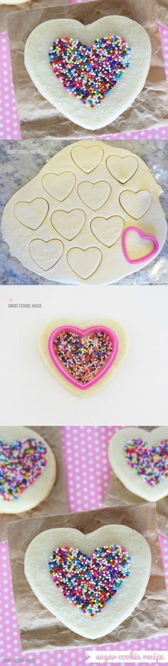 A simple way to make sprinkled sugar cookies. I love easy!